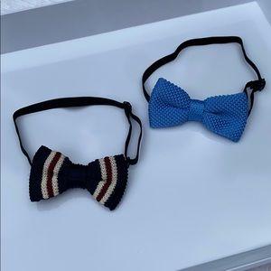 NEW Boys Handmade Knit Bow Tie Bundle